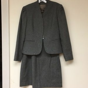 Cucumber 2 pc Career Skirt Suit Wool Blend Sz 7/8